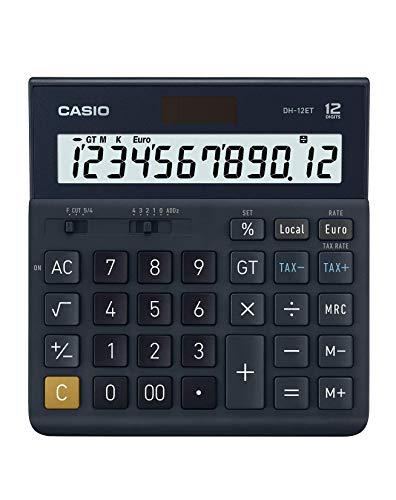 Casio DH-12ET calcolatrice da tavolo 12 cifre, nero