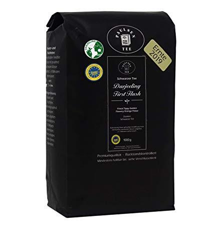 Paulsen Tee Schwarzer Tee Darjeeling First Flush, Ernte 2019, 1000g, rückstandskontrolliert & zertifiziert