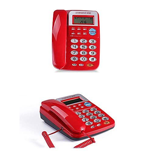 Teléfono Fijo, teléfono con Cable para Personas Mayores, función Manos Libres: marcación Directa, versión Mejorada del botón Grande