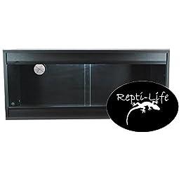Repti-Life 36x15x15 Inch Vivarium Flatpacked In Black, 3ft Viv