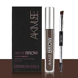 ROMANTIC BEAR Waterproof Eyebrow Colors Gel With Brush Set, Anti-discoloration Eyebrow Gel, BLACKBROWN