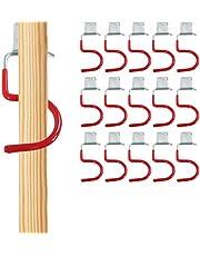 Apparaathouder set van 15 rode haken bezemhouder gereedschaphouder
