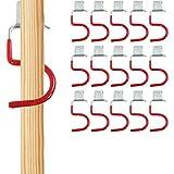 Gerätehalter 15er Set Rot Haken Besenhalter Werkzeughalter