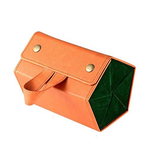 Brille Aufbewahrungsbox Multi-Cell Mode Tragbare Faltschachtel Sonnenbrille Myopie Brille Aufbewahrungsbox (16,8 * 13 * 11,5 Cm) (Color : Orange)