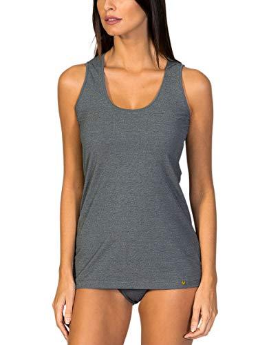 ZD ZERO DEFECTS Camiseta de Tirantes Ancho para Mujer en Hilo de Soja Premium. Prenda Artesanal- Colores y Tallas Disponibles (de la 38 a la 44)
