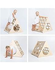 Sweet Home da legno Trasformabile Pikler triangolo, scaletta scaletta per bambini triangolo arrampicata triangolo per bambini triangolo con rampa Pikler dreieck