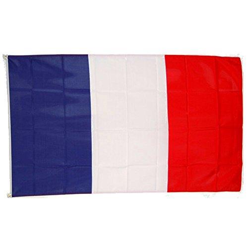 TopTen Frankreich Fahne 150 x 90cm Blau Weiß Rot, Flagge mit Ösen