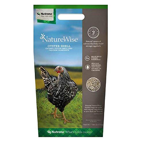 Nutrena Nature Wise 7 Lb. Oyster Shell Poultry Feed, Excellent Supplement for Free Ranging Poultry, Natural Source of Calcium, for Healthy Growth, Muscle Development and Egg Production