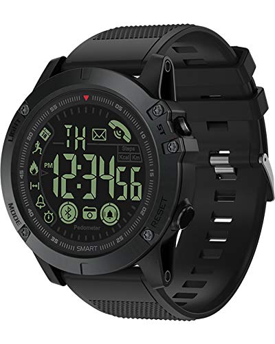 Hombre Reloj Inteligente Impermeable IP67 Smartwatch Bluetooth Fitness Tracker al Agua con Monitor Pasos Notificación Llamada y Mensaje para Andriod iOS Negro