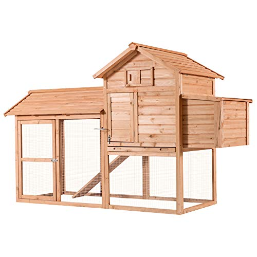 Lovupet 83inch Outdoor Wooden Chicken Coop Nest Box Hen House Poultry Pet Hutch Garden Backyard Cage 0310(Chicken Coop#1)