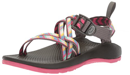 Chaco womens Zx1 Ecotread Kids Sport Sandal, Fletched Pink, 4 Big Kid US