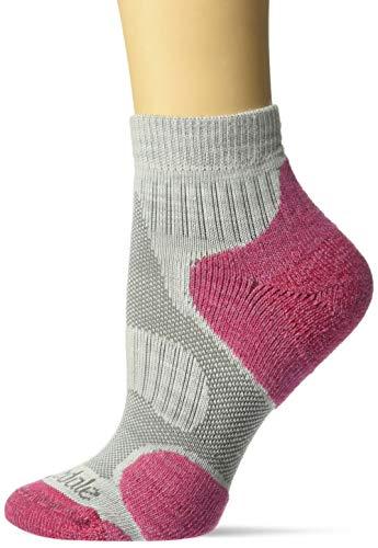 Bridgedale Damen-Socken Hike Ultra Light Merino Endurance Original S Grau / himbeerfarben