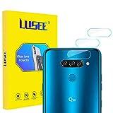 Lusee 2 x Pack Protector de Lente Cámara para LG Q60 6.29 Pulgada Cámara Trasera Pantalla Cristal Vidrio Templado