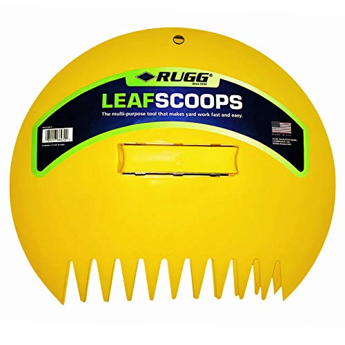 Rugg Original Leaf Scoops, Large Size Hand Rake Claws for Debris & Yard Waste Pick Up, Yellow, (One Pair)