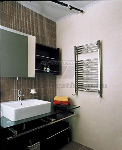 Cordivari Lisa 22 Chromed Towel Warmer Hydronic Curved 20x28 inch - Made in Italy