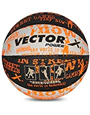Vector X Power Basketball (Black-White-Orange)