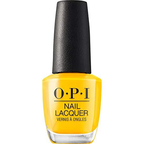 OPI Nail Lacquer, Sun, Sea, and Sand in My Pants, Yellow Nail Polish, Lisbon Collection, 0.5 fl oz
