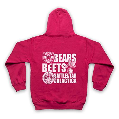 Inspired Apparel Inspirado por Office US Bears Beets Battlestar Galactica No Oficial Niños Sudadera con Capucha con Cremallera