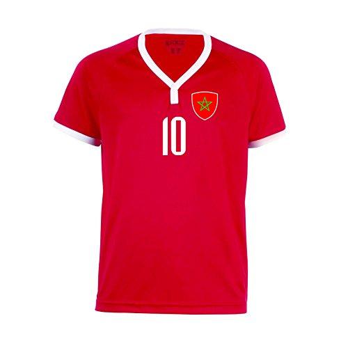 nationshirt Marokko Trikot BR 10 R - R-R-R Hose + Stutzen WM 2018 World Cup Trikot (140)