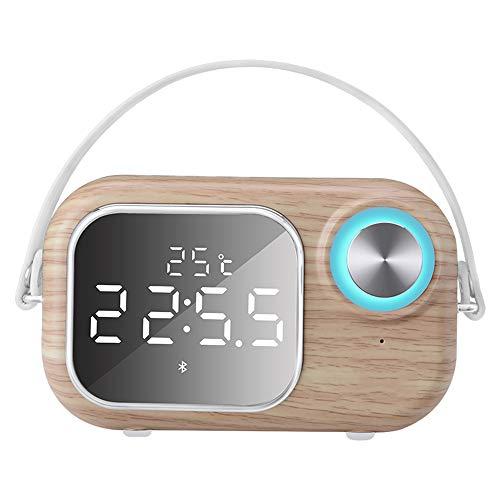 Xiao Jian Bluetooth-luidspreker - radio wekker laptop super subwoofer draagbare radio kaarten Outdoor Cannon subwoofer [real-time temperatuurweergave + luidspreker Blu B