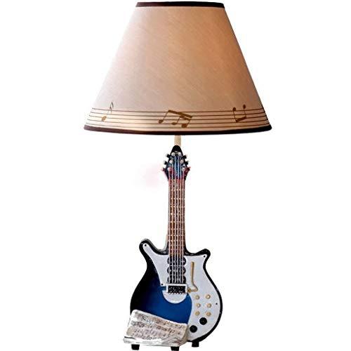 IREANJ Bordslampor, Personality Guitar Music Bell Creative Lampa, sovrum säng lampor Dimmer Literary Continental enkelt sätt Warm Dimbar läsning Night Light