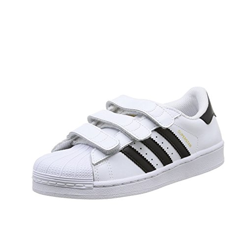 adidas Superstar Foundation Unisex-Kinder Sneakers, Weiß (Foundatio Ftwwht/Cbl), EU 35