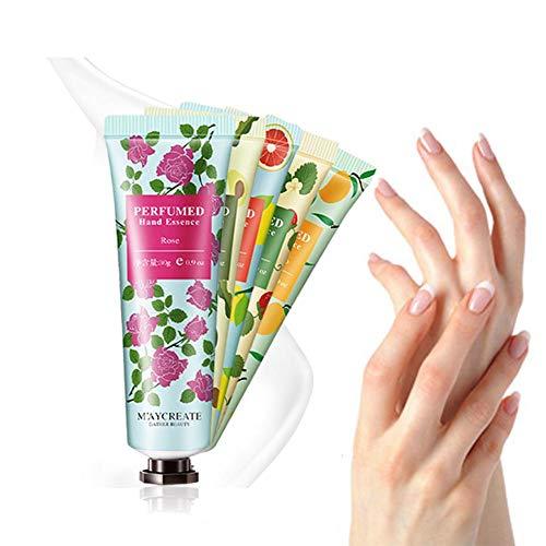 Crème pour les mains 30g avec un parfum de fruits et de fleurs qui rend les mains douces et souples, hydratées et hydratées