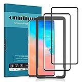omitium Protector Pantalla para Samsung Galaxy S10, [2 Pack] Dureza 9H Cristal Templado Samsung Galaxy S10 3D Curvado Cobertura [Marco Instalación Fácil] Vidrio Templado Samsung S10