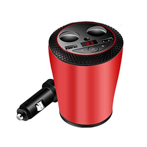 Dmqpp FM Transmitter, Autoradio Audio-Adapter MP3-Player, eine Freisprecheinrichtung Car Kit mit Dual USB Port 5V / 3,1A, for iPhone, Ipad, Samsung
