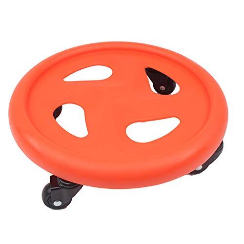 Wgwioo Abdominal Roller Slider Core Fitness Equipment Muscle Training Four Wheel Abdominal Disc,Orange,1PCS