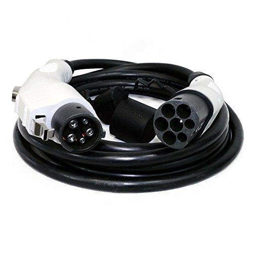 DUOSIDA Câble de Charge Type 2 – TYP 1 (Yazaki) | 16 A | 1 phasig | 3,7 KW | 5 m