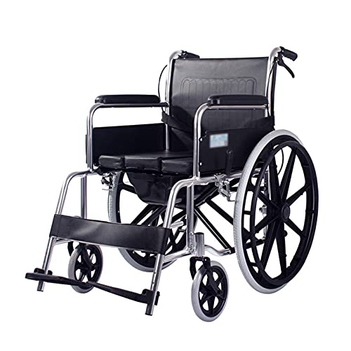 CHHD Transport Wheelchair - Elderly People with a Toilet Seat Folding Portable Multifunctional Trolley Wheelchair Aluminum for The Handicapped Easy to Operate (Size : #2)