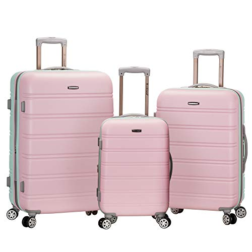 Rockland Melbourne Hardside Expandable Spinner Wheel Luggage, Mint, 3-Piece Set (20/24/28)