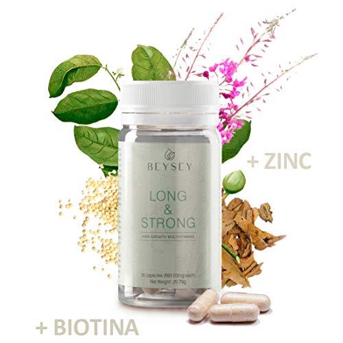 Suplemento natural: Vitaminas para el cabello con Biotina +B3 +B5 +B6