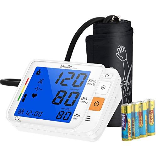 Oberarm-Blutdruckmessgeräte Automatische Digitale Vollautomatisch Professionelle Blutdruckmessgerät Pulsmessung Große LCD Display und Große Manschette, 2 * 120 Speicherplätzen mit Arrhythmie-Erkennung