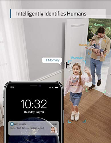 eufy Security 2K Indoor Cam Pan & Tilt, Plug-in Security Indoor Camera with Wi-Fi, IP Camera, Human & Pet AI, Voice Assistant Compatibility, Motion Tracking, HomeBase Not Required.
