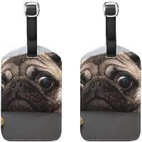 荷物タグかわいい犬旅行IDバッグスーツケースダッフルバックパックハンドバッグタグ2パック