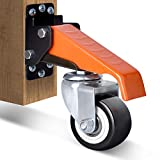 Ronlap Workbench Casters Kit 660 Lbs Capacity, 2.5' Heavy Duty Retractable Casters 4 Pack, Side Mounted Adjustable Table Stepdown Casters