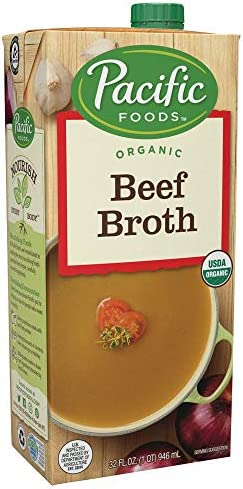 Pacific Foods Organic Beef Broth Keto Friendly 32 Fl Oz Pack of 12 product image