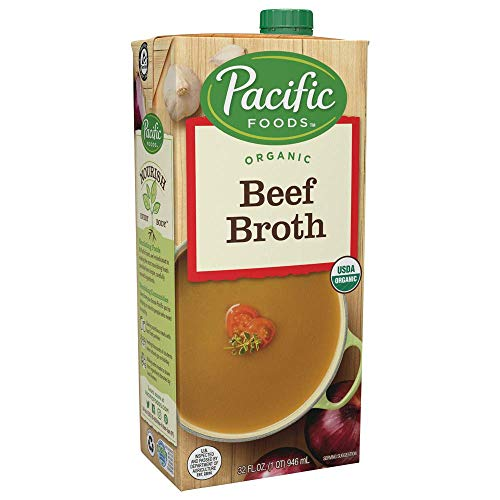 Pacific Foods Organic Beef Broth, 32oz, 12-pack Keto Friendly