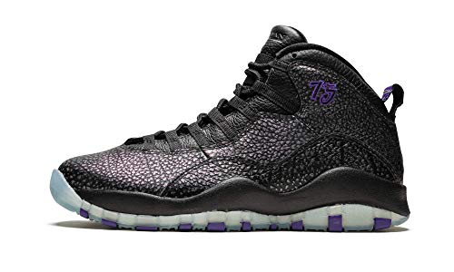 Nike Air Jordan Retro 10, Scarpe da Basket Uomo, Nero/Viola, 41 EU