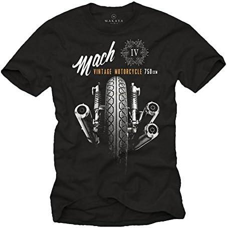 MAKAYA Camisetas Moteras - Vintage Moto Mach 4 Hombre