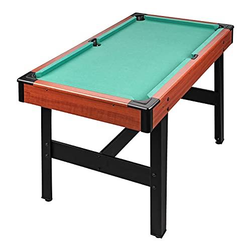 Billardtisch 4ft Zubehör für Kinder & Erwachsene 122x67x78 cm (LxBxH) Pool-Billardtisch