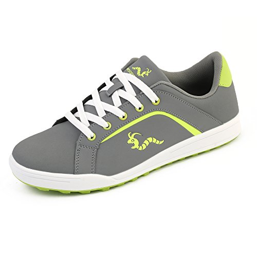 Woodworm Golf Surge V3 Mens Golf Shoes Grey/Neon Size 11