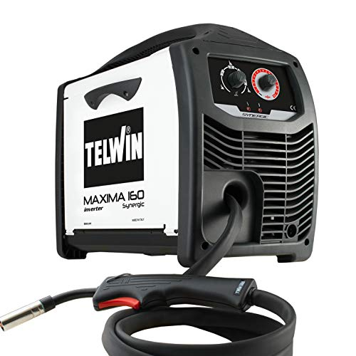 Telwin 816085 Maxima 160 Synergic Drahtschweißgerät mit Invertertechnik, 230V, 50-60Hz, 1ph