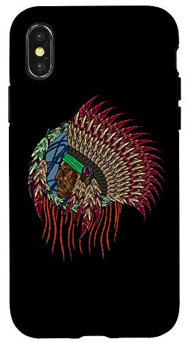 iPhone X/XS American Indian Man Native Americans Cool Indio Gift Idea Case