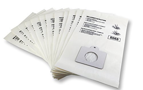 K&J 12-Pack Type C Canister Vacuum Bags - Compatible with Kenmore C,Q Panasonic C-5 Vacuums