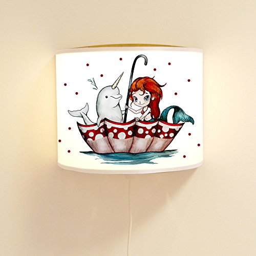 ilka parey wandtattoo-welt Ls75 Lampe Nixe de sirène avec Licorne et Points