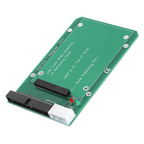 Adaptateur pour Ordinateur Portable, avec 2 lumières LED Connecteur d'alimentation Blanc à 4 Broches Adaptateur IDE pour Ordinateur Portable à Disque Dur à 44 Broches IDE vers Port PATA de