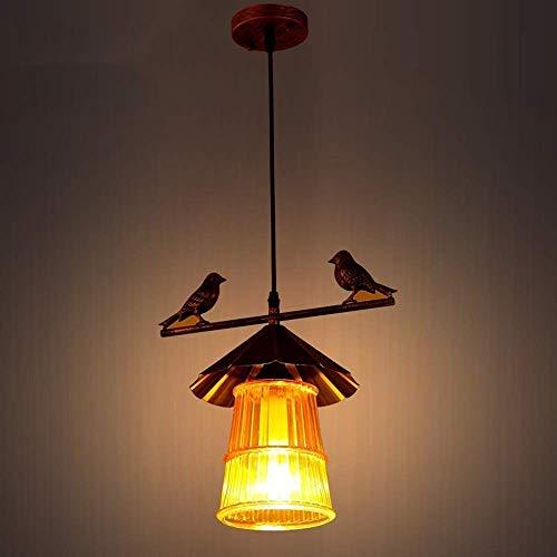 Exquisita American Country antiguo de hierro forjado de una sola cabeza de la lámpara de la sala de decoración isla lámpara de la lámpara del techo del restaurante la luz del pasillo luces personalida